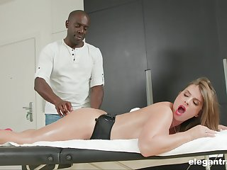 Busty MILF Sexy Suzy massaged increased by ass fucked by a black sponger