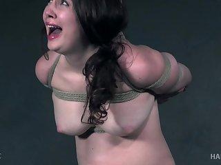 Brunette filial slut Brie Haven has her pussy fingered in vassalage