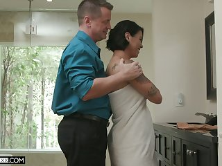Mr Big added to off colour cock commuter Dana Vespoli is horny about steamy doggy fuck