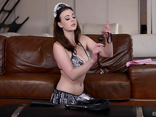 Lesbian busty maid gets spanked and ill-treated overwrought their way mistress