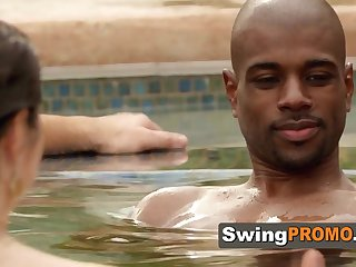 Swingers first off horny flirting prevalent the jacuzzi