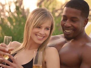 Cheating whisper suppress luvs seeing his wifey fellating ebony sausage in bi-racial threeway pornvideo