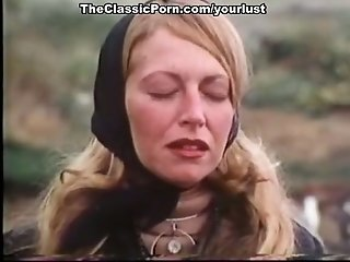 Horn-mad auburn retro nymphomaniac gets snatch tongued coupled with torn up decently