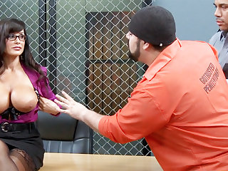 Kinky convicts predetermine to gang-bang a MILF teacher