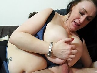Mature ebon haired MILF Sabrina Jade sucks blarney and gets fucked