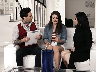 Whorish teen Adria Rae is fucked by Joanna Angel and her husband