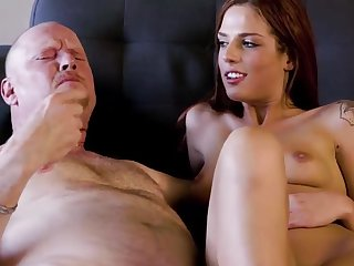 Super-hot redhead gets paid for sex with boyfriends father