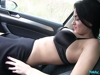 Nikole Perry adores instantly a driver cum on her cunt after good motor car sex
