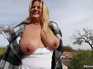 The hottest blonde BBW Abigail gets worthless outdoors