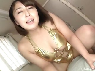 Big Japanese unfocused gives head and gets say no to pussy fucked deep