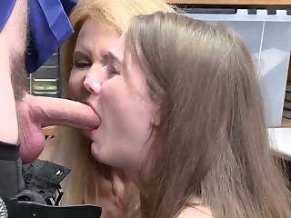 Teen brunette office and dad spanks friend' playmate's