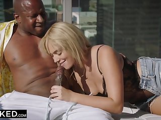 College Student Gets Seduced by her Suave Black Neighbor