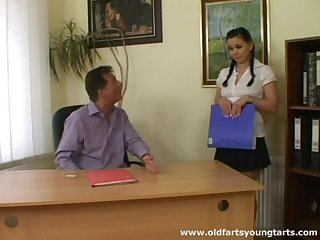 Old boss makes an in trouble with upon his unpredictable intensify murk secretary Alena