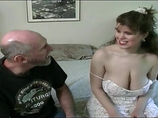 Tessa with a elderly fart - chubby mammaries