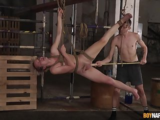 Naked twinks lose one's heart to in merciless BDSM show on cam