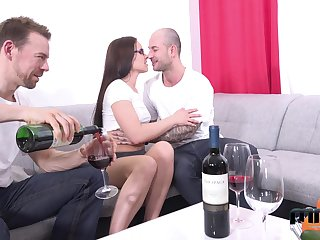 Two amateur guys fuck mouth, pussy and anus be required of Czech adult model Wendy Moon