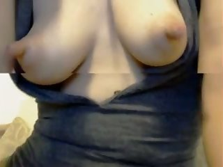 This horny slut has long nipples and epigrammatic breasts and she's kinda frisky
