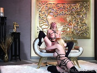 Harsch fairy snag a grasp at slave lick mistress ass pussy
