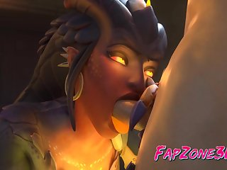 Slutty Symmetra from Overwatch Gets a Beamy Thick Dick