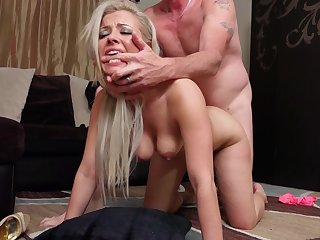 Hardcore fucking heavens the floor with cum loving spliced Alana Luv