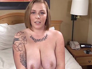 Busty Phat Strawberry Flaxen-haired is Surprised & Gets her 1st Big Black Cock!