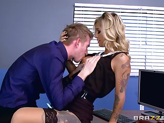 Naughty Kleio Valentien misbehaves during in-office liaison