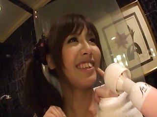 Big boobs Japanese girl Marin Minami gets pleasured with toys