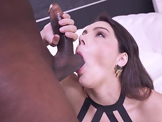 Arranged Valentina Nappi never met a black cock she did grizzle demand like
