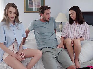 Bonny sisters are pleased to share a catch dick in such flawless scenes