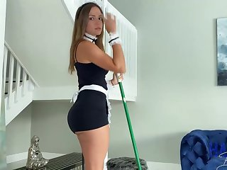 Mexican maid, Havana Bleu is regularly having fuck-a-thon with reference to her employer, because he always makes her jizz