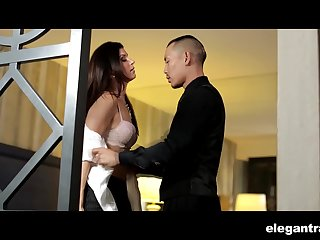 Sherlock alluring babe India Summer spreads legs wide for Keni Styles
