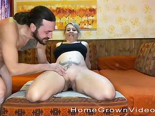 Nothing makes this mature chick happier than getting pounded