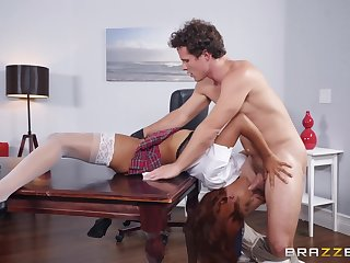 Jenna Foxx And Robby Echo In Ebony Secretary Knows What Her Boss Is Off one's chump