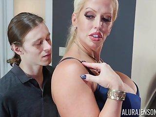 Videotape hardcore with mature blonde Alura Jenson - titjob, cumshot