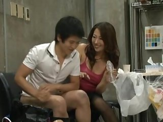 Yuu Uehara with hairy pussy moans while being dicked nicely