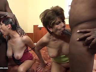 Granny group interracial fuck the grannies swell up black cocks